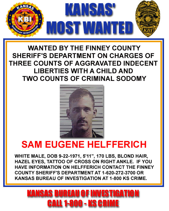 Click Here For The Kansas Most Wanted Poster For This Page  Criminal Wanted Poster